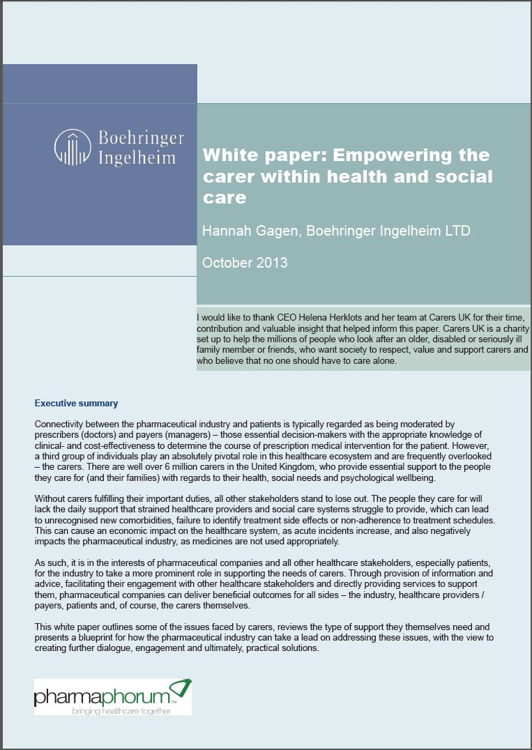 White papers making more health empowering the carer fp malvernweather Image collections