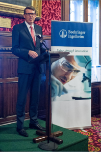 Klaus Dugi presenting at the House of Commons