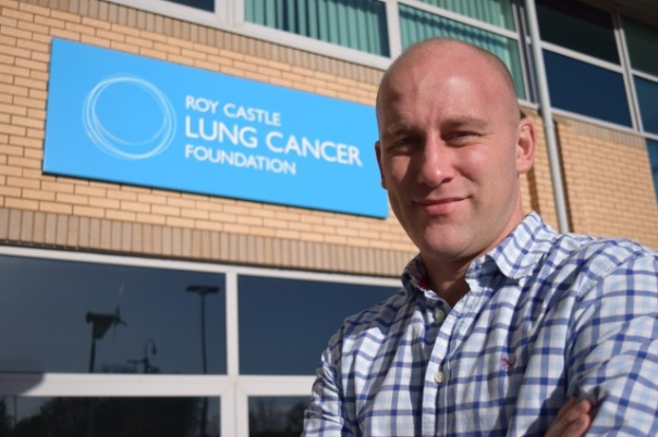 Greg Woodley, Marketing and Communications Director at Roy Castle Lung Cancer Foundation
